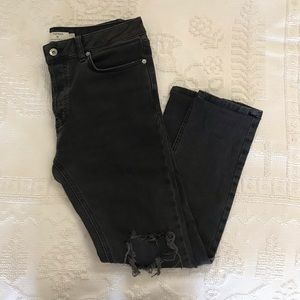 Topman Stretch Skinny Distressed Jeans